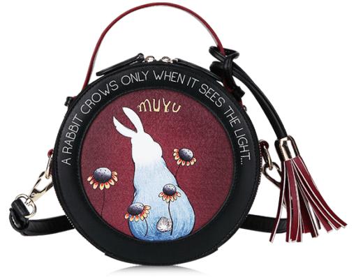 "Круглая сумка ""Белый кролик"""