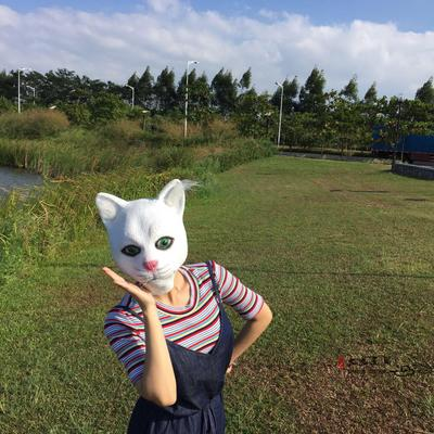 Маска белой кошки