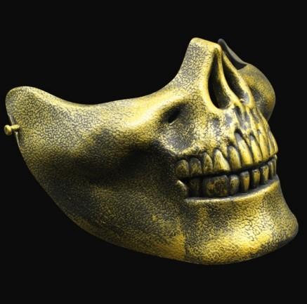 Маска челюсть черепа скелета