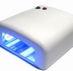 Уф лампа для сушки и наращивания ногтей с таймером 120 сек 36 ватт вт 818